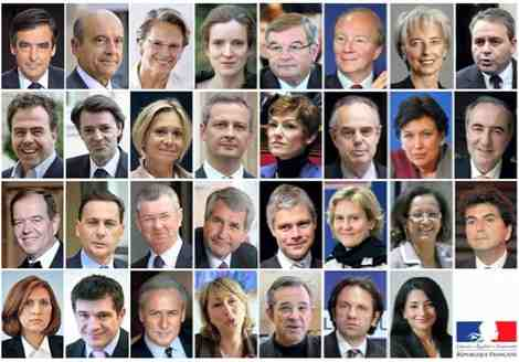 Les 15 ministres du gouvernement François Fillon III (nov. 2010) ?