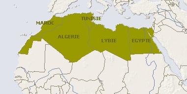 Les 5 pays d'Afrique du Nord ?
