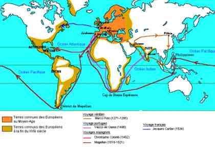 Les grandes découvertes maritimes ?