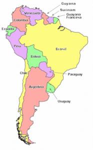 Capitales des pays d'Amérique du Sud ?
