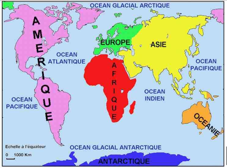 Océans et continents ?
