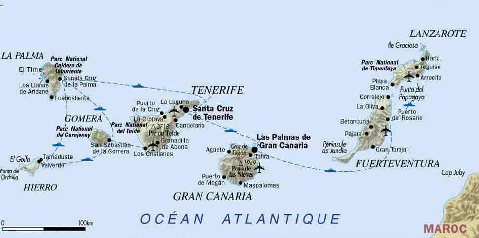 Les 7 principales Iles Canaries ?