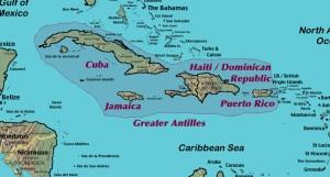 Les 5 pays des Grandes Antilles ?