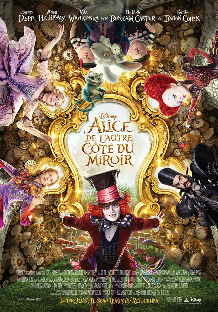 Alice de l'autre côté du miroir, les 5 personnages principaux ?