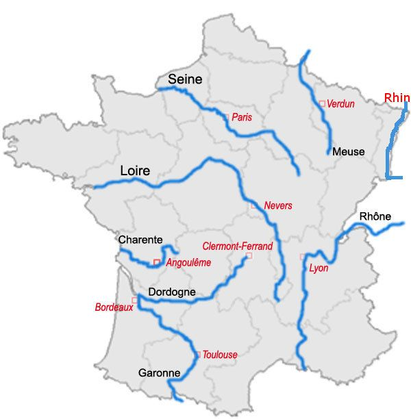 Les 8 principaux fleuves de France ?